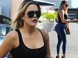 Picture Shows: Khloe Kardashian  September 28, 2015\n \n Reality star sisters Kim, Kourtney and Khloe Kardashian, along with Kim's musician husband Kanye West are spotted at a studio in Los Angeles, California.\n \n Non Exclusive\n UK RIGHTS ONLY\n \n Pictures by : FameFlynet UK © 2015\n Tel : +44 (0)20 3551 5049\n Email : info@fameflynet.uk.com