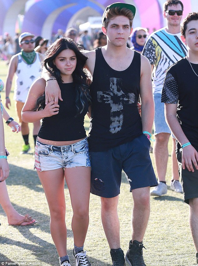 Young couple: Ariel and Laurent are shown earlier this month at the Coachella Music Festival in Indio, California