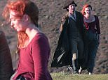 Poldark Filming in Cornwall, UK\n\nPictured: Aidan Turner and Eleanor Tomlinson\nRef: SPL1138257  280915  \nPicture by: MK / Splash News\n\nSplash News and Pictures\nLos Angeles: 310-821-2666\nNew York: 212-619-2666\nLondon: 870-934-2666\nphotodesk@splashnews.com\n