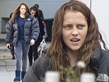 """EXCLUSIVE: Actress Teresa Palmer looks rather tired and is wearing dirty damaged leggings as she heads back to her trailer after filming a scene for the movie """"Berlin Syndrome"""" in Berlin....Pictured: Teresa Palmer..Ref: SPL1138125  280915   EXCLUSIVE..Picture by: Splash News....Splash News and Pictures..Los Angeles: 310-821-2666..New York: 212-619-2666..London: 870-934-2666..photodesk@splashnews.com.."""