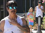 Please contact X17 before any use of these exclusive photos - x17@x17agency.com   PREMIUM EXCLUSIVE - Anthoy Kiedis and tie-dyed Everly Bear were spotted out and about in Malibu, on Saturday, September 26, 2015 X17online.com