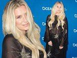 Singer Ke$ha attends Concert for Our Oceans hosted by Seth MacFarlane benefiting Oceana, in Beverly Hills, California, on September, 28, 2015. AFP PHOTO /VALERIE MACONVALERIE MACON/AFP/Getty Images