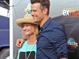 Universal City, CA - Josh Duhamel Brings Proud Mother Bonnie to Work and both stop to pose for photos, and Josh takes time to sign autographs for the fans. . AKM-GSI          September 28, 2015 To License These Photos, Please Contact : Steve Ginsburg (310) 505-8447 (323) 423-9397 steve@akmgsi.com sales@akmgsi.com or Maria Buda (917) 242-1505 mbuda@akmgsi.com ginsburgspalyinc@gmail.com