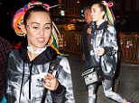 EXCLUSIVE: Miley Cyrus and friends spotted going to party at Soho House after picking up scripts for her SNL skit sporting colorful dreadlocks and a smokey Adidas track suit with colored painted shoes.\n\nPictured: Miley Cyrus\nRef: SPL1136112  280915   EXCLUSIVE\nPicture by: @PapCultureNYC / Splash News\n\nSplash News and Pictures\nLos Angeles: 310-821-2666\nNew York: 212-619-2666\nLondon: 870-934-2666\nphotodesk@splashnews.com\n