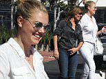 **EXCLUSIVE**  Date: September 27th 2015  Photo Credit: MOVI Inc.\\nSuper model Kate Upton looks chic and put together in an all white ensemble paired with nude pink heels and a white handbag as she steps out for some lunch in West Hollywood,Ca.