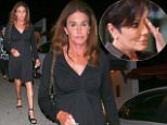 UK CLIENTS MUST CREDIT: AKM-GSI ONLY\nEXCLUSIVE: **SHOT ON 9/25/15** Studio City, CA - Caitlyn Jenner is spotted leaving Casa Vega after having dinner with gal pal, Candis Cayne.  Caitlyn, formerly Bruce Jenner, left the establishment wearing a black classy dress and matching black heels as she made her way to her vehicle.  A judge officially approved her name and gender change on Friday and ordered that a new birth certificate reflecting the changes be issued to Caitlyn.\n\nPictured: Caitlyn Jenner and Candis Cayne\nRef: SPL1138230  250915   EXCLUSIVE\nPicture by: AKM-GSI / Splash News\n\n