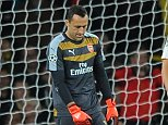 Eufa Championd League. Arsenal v Olympiakos 29/09/15: Picture Kevin Quigley/solo syndication  David Ospina drops the corner to make it 2-1