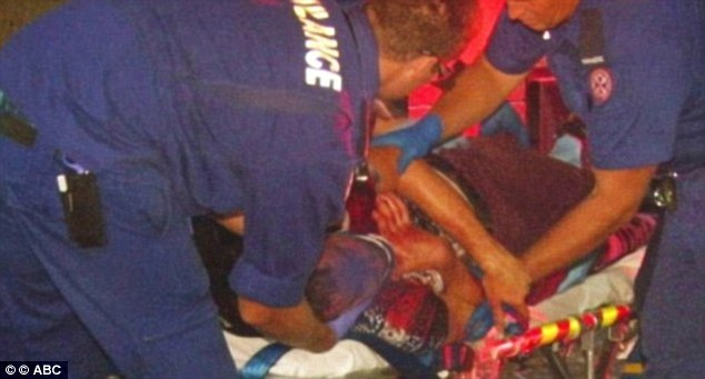 Patrick was treated by paramedics at the scene where he was found in a pool of blood and vomit on January 3