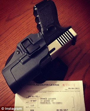 He obtained a license for the gun in 2013