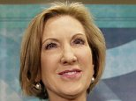 Republican presidential candidate Carly Fiorina waves to supporters after speaking at the Quad Cities New Ideas Forum, Friday, Sept. 25, 2015, in Davenport, Iowa. (AP Photo/Charlie Neibergall)