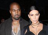 Mandatory Credit: Photo by Matt Baron/REX Shutterstock (5073832hi).. Kanye West and Kim Kardashian backstage.. Givenchy show, Spring Summer 2016, New York Fashion Week, America - 11 Sep 2015.. ..