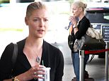 """UK CLIENTS MUST CREDIT: AKM-GSI ONLY\nEXCLUSIVE: Los Angeles, CA - Former """"Grey's Anatomy"""" actress Katherine Heigl is set to depart on her flight, alongside her mother at LAX.\n\nPictured: Katherine Heigl\nRef: SPL1138986  280915   EXCLUSIVE\nPicture by: AKM-GSI / Splash News\n\n"""