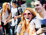 EXCLUSIVE: Bella Thorne and Gregg Sulkin are all smiles when they have a romantic lunch, go to a candy store, play with dogs while walking their own dog in the park in New York City, NY 1/2\n\nPictured: Bella Thorne and Gregg Sulkin\nRef: SPL1139054  280915   EXCLUSIVE\nPicture by: XactpiX/Splash News\n\nSplash News and Pictures\nLos Angeles: 310-821-2666\nNew York: 212-619-2666\nLondon: 870-934-2666\nphotodesk@splashnews.com\n