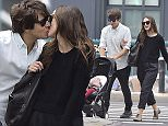 NEW YORK, NY - SEPTEMBER 28:  Actress Keira Knightley and her musician husband James Righton stroll with their baby Edie Righton in Soho on September 28, 2015 in New York City.  (Photo by Alo Ceballos/GC Images)