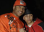 LL Cool J and son Nagee Smith during LL Cool J Album Release Party Hosted by Cuervo - April 11, 2006 at Pink@ BLVD in New York City, New York, United States. (Photo by L. Busacca/WireImage for Alan Taylor Communications)