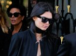 Model Kendall Jenner, wearing lingerie under her jacket, leaves the Four Seasons Hotel with Kris Jenner in Paris, France on September 29, 2015  Pictured: Kendall Jenner,Kris Jenner Ref: SPL1138892  290915   Picture by: Christopher Peterson/Splash News  Splash News and Pictures Los Angeles: 310-821-2666 New York: 212-619-2666 London: 870-934-2666 photodesk@splashnews.com