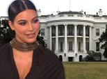 Kim Kardashian at the White house
