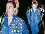 ***MANDATORY BYLINE TO READ INFPhoto.com ONLY***\nMiley Cyrus greets fans as she leaves Lattanzi Italian restaurant in the Theater District in New York City, wearing a denim jacket over a denim jumpsuit.\n\nPictured: Miley Cyrus\nRef: SPL1140053  290915  \nPicture by: PapJuice/INFphoto.com\n\n