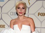 Lady Gaga arrives for the Fox Emmy party held at 'Vibiana' in Los Angeles, CA  Pictured: Lady gaga Ref: SPL1132728  210915   Picture by: Toby Canham/Splash News  Splash News and Pictures Los Angeles: 310-821-2666 New York: 212-619-2666 London: 870-934-2666 photodesk@splashnews.com