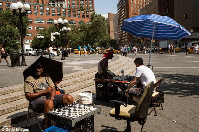 Unexpected: The attack happened on Wednesday afternoon, near the chess tables in New York's Union Square