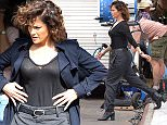 Mandatory Credit: Photo by Curtis Means/ACE Pictures/REX Shutterstock (5198519e)  Jennifer Lopez  'Shades of Blue' on set filming, New York, America - 29 Sep 2015