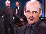 """29 September 2015 - Los Angeles - USA  **** STRICTLY NOT AVAILABLE FOR USA ***  Matt Damon impersonates Dr Phil before having couples therapy on Jimmy Kimmel Live. Damon and Kimmel have an ongoing 12 year faux feud over Damon's plea to appear on the show, with Kimmel signing off every show with: """"Sorry we ran out of time for Matt Damon."""" But with a new movie to promote - The Martian - Damon attempted to slip onto the show in disguise - dressed as Dr Phil. Kimmel rumbled him straight away and the pair began arguing with Damon insisting this time Kimmel had promised him time on the guest couch. Kimmel denied it and said he had told Damon in their couples therapy session that afternoon that he would 'try' to get him on the show. Kimmel then insisted on running video of the therapy session, despite Damon claiming it was 'private'. Viewers were then treated to a hilarious sketch of the pair in therapy with Damon revealing he had spent every night for the past 12 years waiting in a room in"""