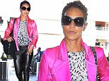 Jada Pinkett Smith arrives at LAX in pink satin jacket and black leather leggings in funky shades  September 28, 2015 X17online.com\\nOK FOR WEB SITE AT 20PP\\nMAGAZINES NORMAL FEES\\nAny queries please call Lynne or Gary on office 0034 966 713 949 \\nGary mobile 0034 686 421 720 \\nLynne mobile 0034 611 100 011\\nAlasdair mobile  0034 630 576 519\\n