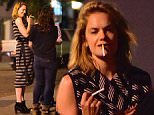 Ruth Wilson was spotted chatting with pals outside a West Village Bar . She got close to a mystery male pal, after recently being rumored to be dating Jake Gyllenhaal. She laughed uncontrollably while puffing away on a cigarette, before heading back inside.\n\nPictured: Ruth Wilson\nRef: SPL1139001  280915  \nPicture by: 247PAPS.TV / Splash News\n\nSplash News and Pictures\nLos Angeles: 310-821-2666\nNew York: 212-619-2666\nLondon: 870-934-2666\nphotodesk@splashnews.com\n