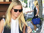 29 SEP 2015 - LOS ANGELES - USA *** STRICTLY NOT AVAILABLE FOR USA SALES  *** GWYNETH PALTROW STOPS BY TRENDY MECHE IN THE 90201 AREA FOR A LITTLE HAIRDO UPGRADE, THE BUSY MOM CHATTED WITH A FEW GUYS ON HER WAY OUT AND SHARED A SHY SMILE WITH OUR PHOTOGRAPHERS. BYLINE MUST READ : XPOSUREPHOTOS.COM ***UK CLIENTS - PICTURES CONTAINING CHILDREN PLEASE PIXELATE FACE PRIOR TO PUBLICATION *** *UK CLIENTS MUST CALL PRIOR TO TV OR ONLINE USAGE PLEASE TELEPHONE 0208 344 2007*