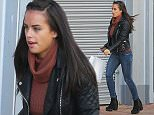Strictly Come Dancing's Georgia May Foote looks like she's in a hurry as she dashes back to her appartment in Manchester city centre after a shopping trip into the city centre on Wednesday morning...... 30.9.15.