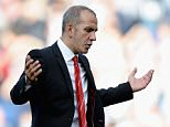 Paolo Di Canio, manager of Sunderland gestures at the end of the Barclays Premier League match between West Bromwich Albion and Sunderland at The Hawthorns on September 21, 2013 in West Bromwich, England.    Sunderland manager Paolo Di Canio has been sacked after only winning two of his 12 matches since being appointed manager in March.    (FILE PHOTO)  WEST BROMWICH, ENGLAND - SEPTEMBER 21: (Photo by Tony Marshall/Getty Images)