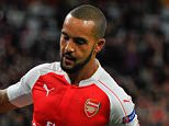 Theo Walcott celebrates the equalising goal, 1-1, during the UEFA Champions League Group F match between Arsenal and Olympiakos played at The Emirates, London on September 29th 2015