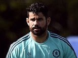 Hazard and Costa take part in Chelsea's final training session before the European clash with Porto