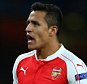 LONDON, ENGLAND - SEPTEMBER 29:  Alexis Sanchez of Arsenal shrugs his shoulders during the UEFA Champions League match between Arsenal and Olympiacos at the Emirates Stadium on September 29, 2015 in London, United Kingdom.  (Photo by Catherine Ivill - AMA/Getty Images)