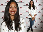 NEW YORK, NY - SEPTEMBER 29:  Actress Zoe Saldana poses at the Reinventing Social Entertainment panel presented by AOL during Advertising Week 2015 AWXII at the Times Center Stage on September 29, 2015 in New York City.  (Photo by Laura Cavanaugh/Getty Images for AWXII)