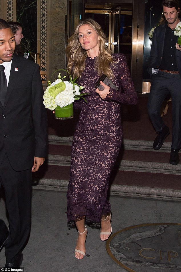 Doing good: Gisele Bundchenattended a Champions Of Earth event in New York City on Sunday evening
