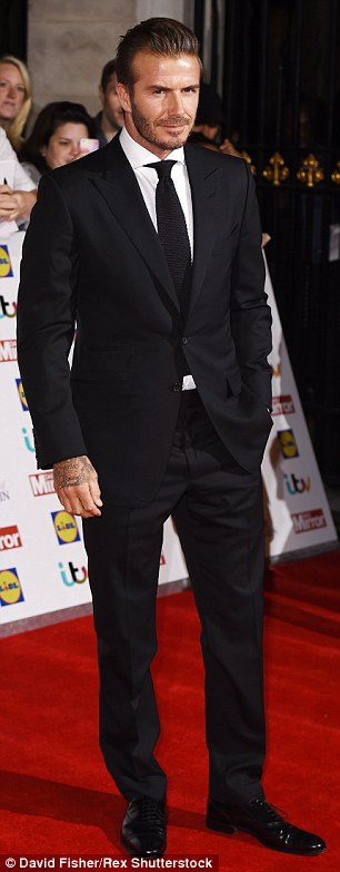 Doing what he does best: Without a doubt, Beckham was one of the biggest stars at the ceremony