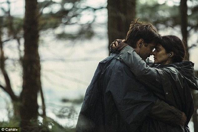 Sci-fi romance: Rachel is seen in a still from the movie alongside Colin Farrell