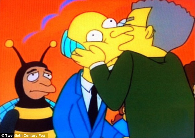 Executive producer Al Jean told TVLine: 'In Springfield now, most people know he's gay, but obviously Burns doesn't'
