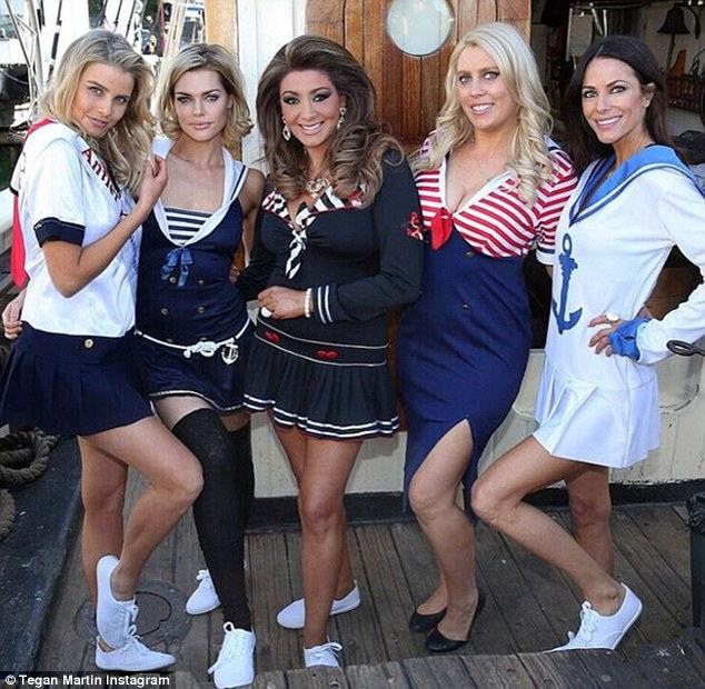 The girls! Elaborating on 'the Gina show,' Tegan admitted The Real Housewives of Melbourne star, Gina Liano (centre) could be rather outspoken