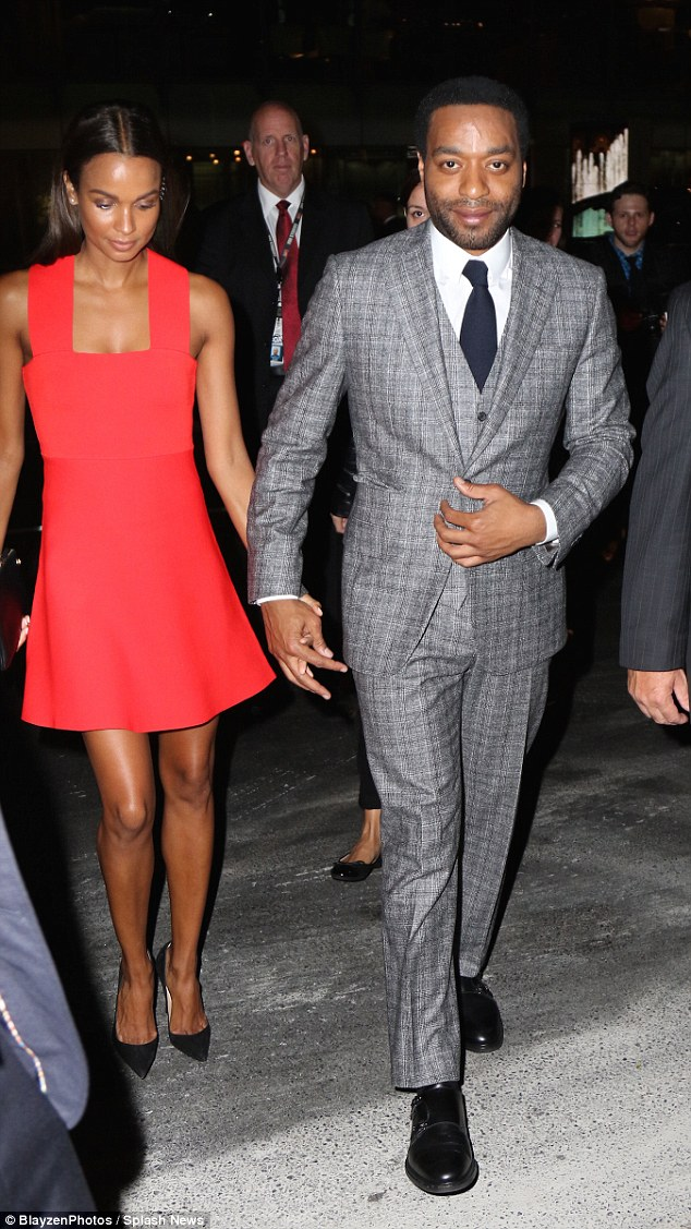 Moving on: Chiwetel Ejiofor was spotted with a mystery woman shortly after splitting with his girlfriend Sari Mercer