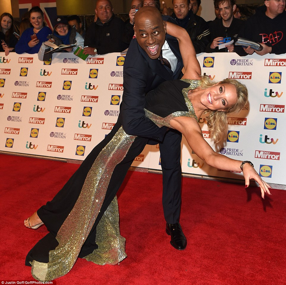 He's got the moves: Ainsley Harriott and Strictly dance partner Natalie Lowe showed off their moves