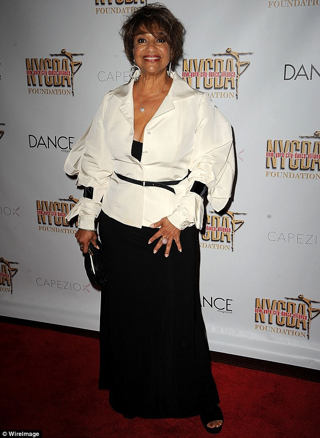 A bit of all white! Debbie Allen took the plunge on the red carpet