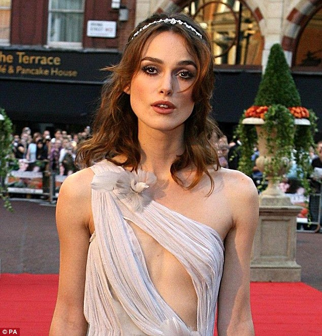 Keira Knightley, pictured in 2007, pioneered the look and is now famed for her trademark pout