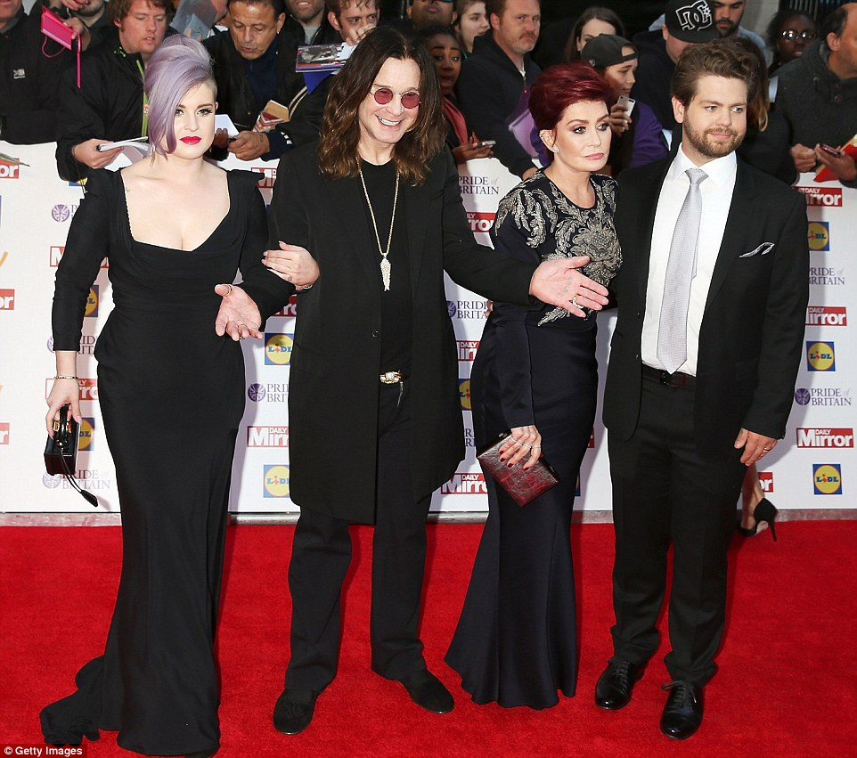 Rock royalty:(L-R) Kelly Osbourne, Ozzy Osbourne, Sharon Osbourne and Jack Osbourne joined forces on the night