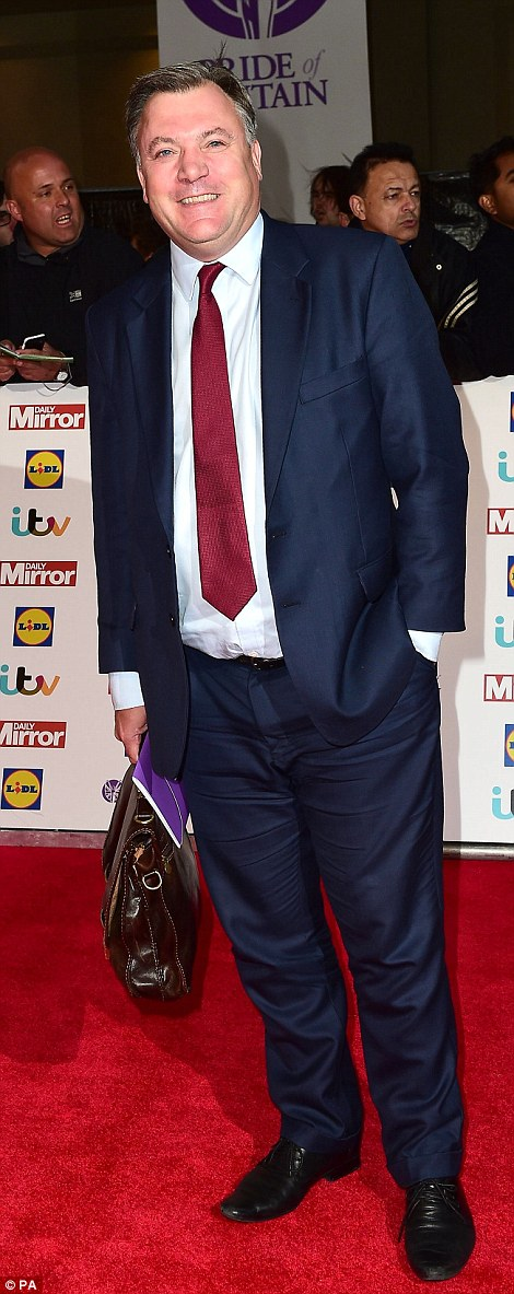 Dapper chaps: Journalist Piers Morgan and former Cabinet Minister and Shadow Chancellor Ed Balls put in appearances