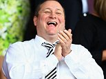Newcastle United owner Mike Ashley applauds prior to the Barclays Premier League match between Southampton and Newcastle United at St Mary's Stadium in Southampton