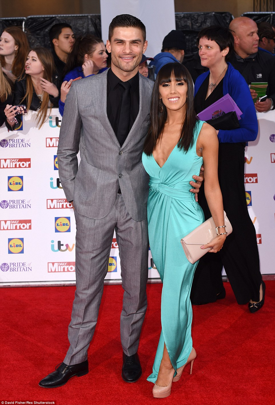 Lovebirds: Dancing pros Aljaz Skorjanec and Janette Manrara looked picture perfect on the red-carpet