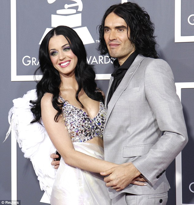 As they were: Katy's divorce from Russell was finalised last month