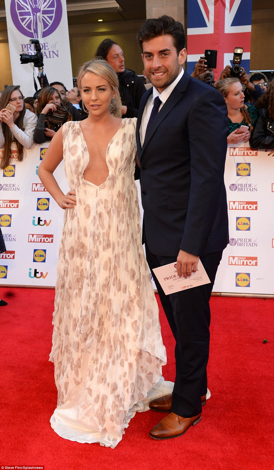 Happy couple: James 'Arg' Argent was joining his gorgeous girlfriend on the red carpet at the awards